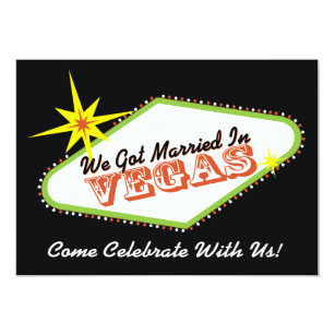 Las Vegas Wedding Invitations Zazzle