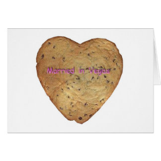 Married in Vegas Chocolate Chip Cookie Card