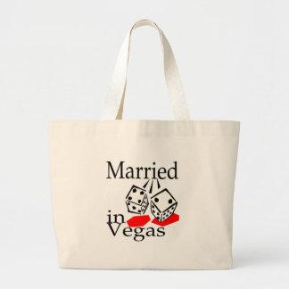 Married In Vegas (Dice) Large Tote Bag