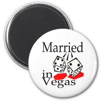 Married In Vegas (Dice) Magnet