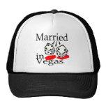 Married In Vegas (Dice) Mesh Hats