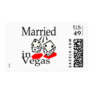 Married In Vegas (Dice) Stamp