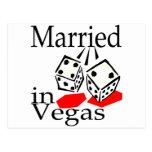 Married In Vegas (Dice) Postcard