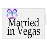 Married In Vegas Greeting Card