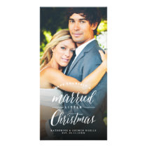 Married Little Christmas Couple Holiday Photo Card