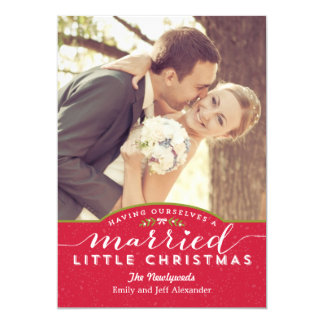 Married Little Christmas Newlywed Holiday Card