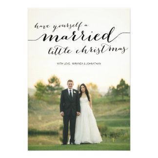 Married Little Christmas Photo Flat Cards