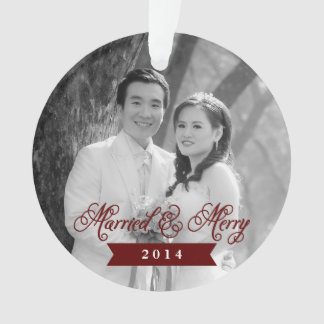 Married & Merry Holiday Ornament 2