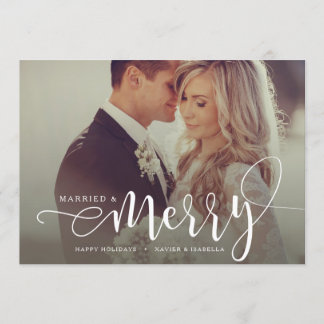 Married & Merry Holiday Photo