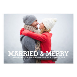 MARRIED MERRY HOLIDAY PHOTO CARD