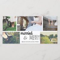 Married & Merry Holiday Wedding Five Photo Collage