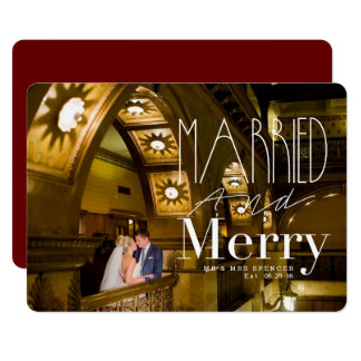 Married & Merry | Married Couple Holiday Photo Card