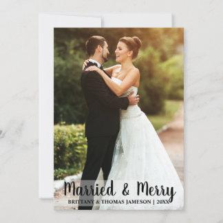 Married & Merry Newlywed Wedding Photo Card W