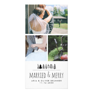 Married & Merry Whimsical Christmas Tree | Three Card
