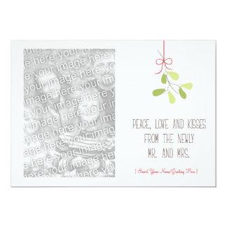 Married Mistletoe 5x7 Paper Invitation Card