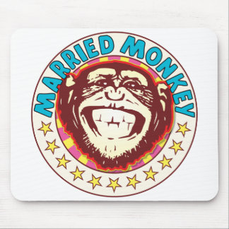 Married Monkey Mouse Pad