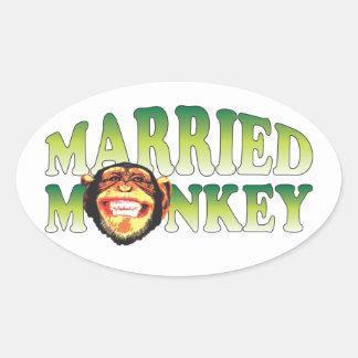 Married Monkey Stickers