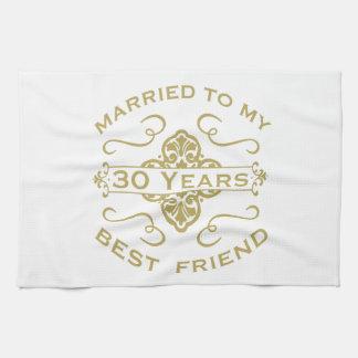 Married My Best Friend 30th Kitchen Towel