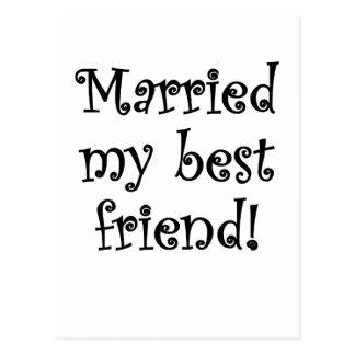 Married my Best Friend Postcard