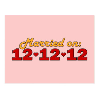 Married On 12.12.12 Postcard