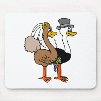 Married Ostrichs Mouse Pad