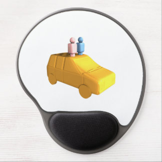 Married Peg People in a Car Gel Mouse Pad