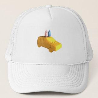 Married Peg People in a Car Trucker Hat