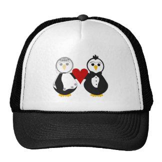 Married Penguins Holding A Heart Trucker Hat