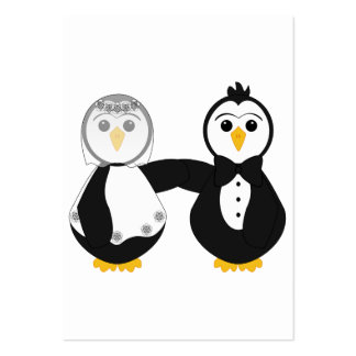 Married Penguins Holding Hands Business Cards