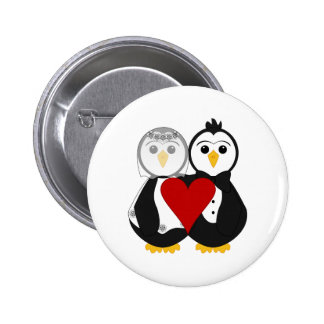 Married Penguins In Love Pin