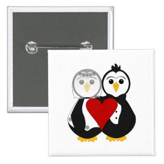 Married Penguins In Love Pins