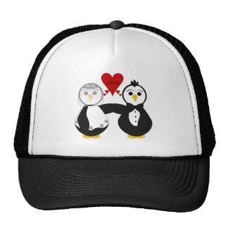 Married Penguins Thinking Love Trucker Hat