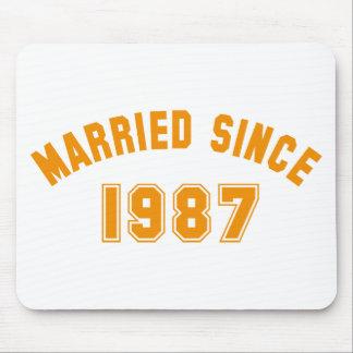married since 1987 tapete de ratones