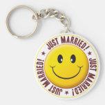 Married Smiley Keychain