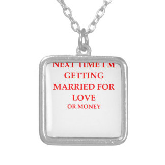 MARRIED SQUARE PENDANT NECKLACE