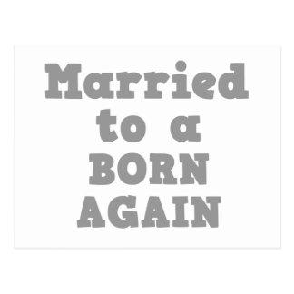 MARRIED TO A BORN AGAIN POSTCARD