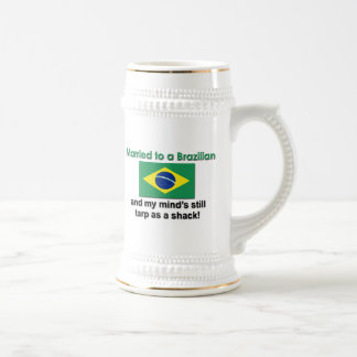 Married to a Brazilian Beer Stein