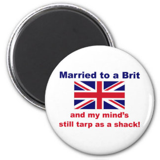 Married To A Brit 2 Inch Round Magnet