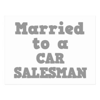 MARRIED TO A CAR SALESMAN POSTCARD