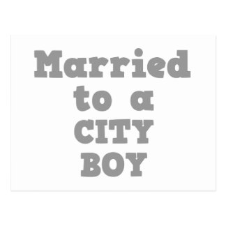 MARRIED TO A CITY BOY POSTCARD