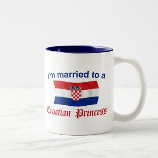 Married to a Croatian Princess Two-Tone Coffee Mug