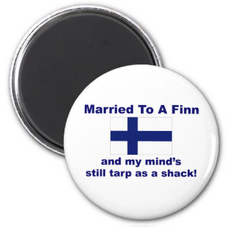 Married To A Finn 2 Inch Round Magnet