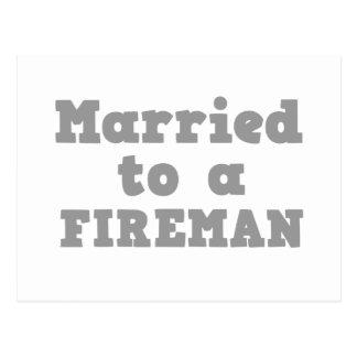 MARRIED TO A FIREMAN POSTCARD