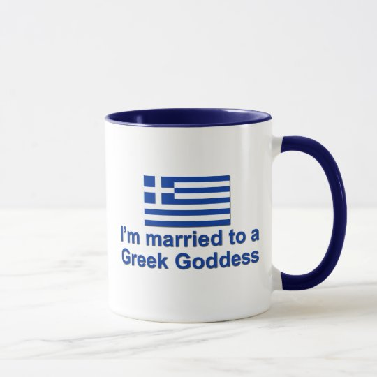 Married to a Greek Goddess Mug