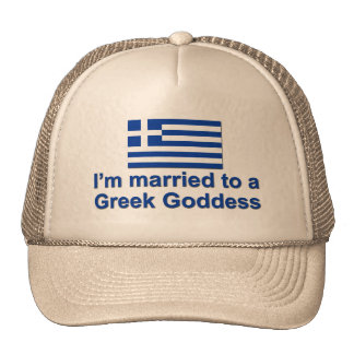Married to a Greek Goddess Trucker Hat