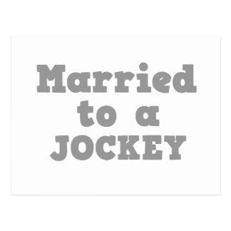 MARRIED TO A JOCKEY POSTCARD
