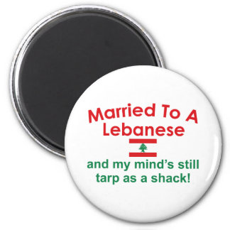 Married to a Lebanese 2 Inch Round Magnet