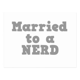 MARRIED TO A NERD POSTCARD