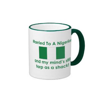 Married to a Nigerian Ringer Coffee Mug