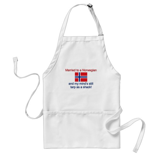 Married To A Norwegian... Adult Apron